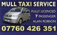 Mull Taxi Service: Tobermory, Isle of Mull